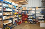 Many service parts in stock