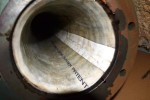 Visible liner inside the existing pipe
